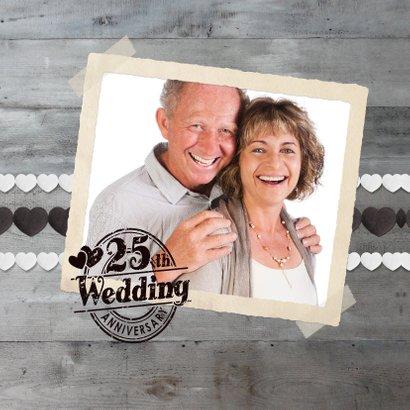 Einladungskarte zur Silberhochzeit Foto mit Herz 2