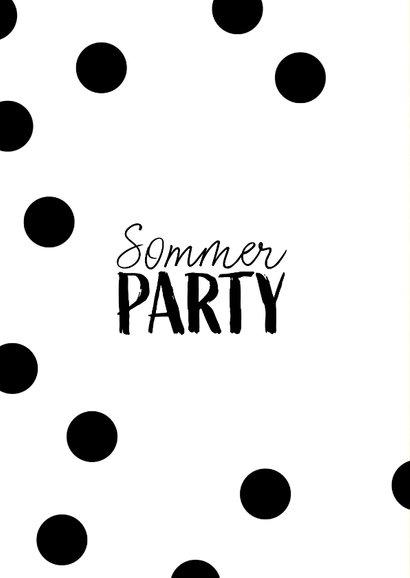 Einladungskarte zur Sommerparty Ananas 2