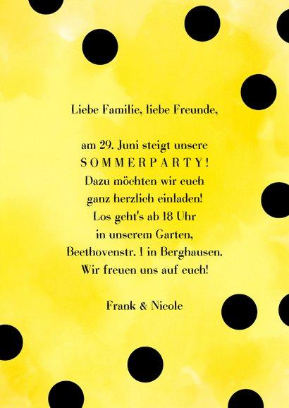 Einladungskarte zur Sommerparty Ananas 3