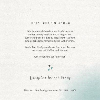 Einladungskarte zur Taufe Foto grüner Blumenkranz 3