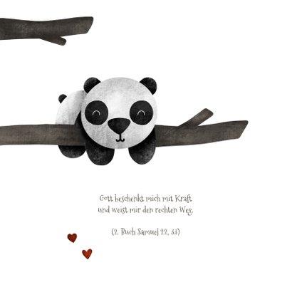 Einladungskarte zur Taufe Pandabär im Baum 2