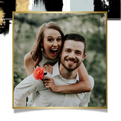 Einladungskarte zur Verlobungsparty mit Gold 2