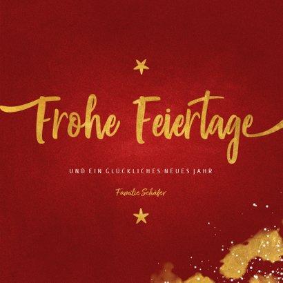 Elegante Weihnachtskarte mit drei Fotos 3