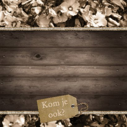 Feest hout bloemen vintage b 2