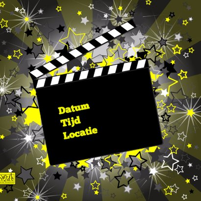 FEEST regisseursbord zwart geel 2