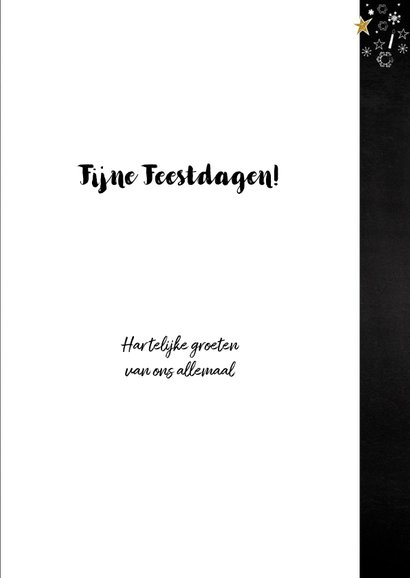 Feestelijke kerstkaart wegwijzer typografisch 3