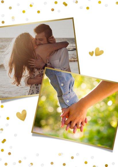 Feestelijke menukaart trouwen met confetti en goud 2