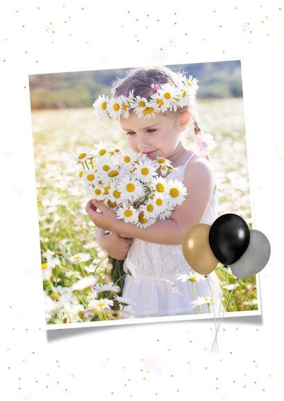 Feestelijke uitnodiging communie fotocollage meisje 2