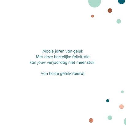 Feestelijke verjaardagskaart met confetti 3