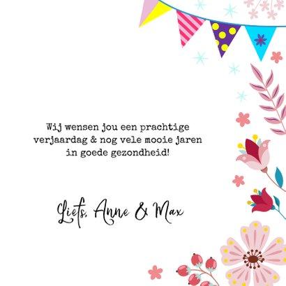 Feestelijke verjaardagskaart met poesje en vlinder 3