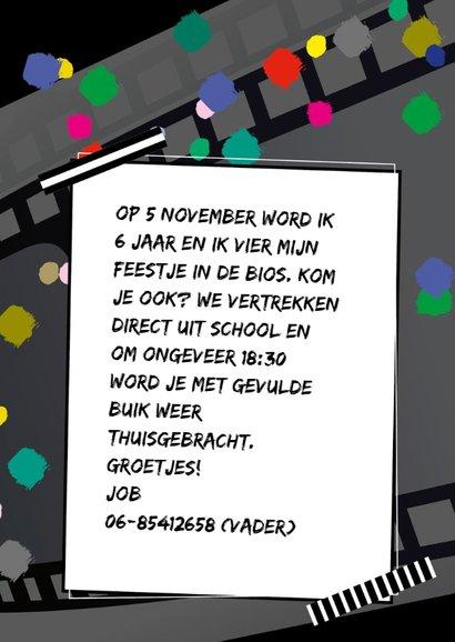 Feestje bioscoop confetti 3
