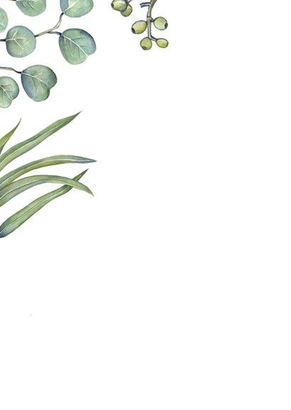 Feliciatie huwelijk euqalyptusblad 2