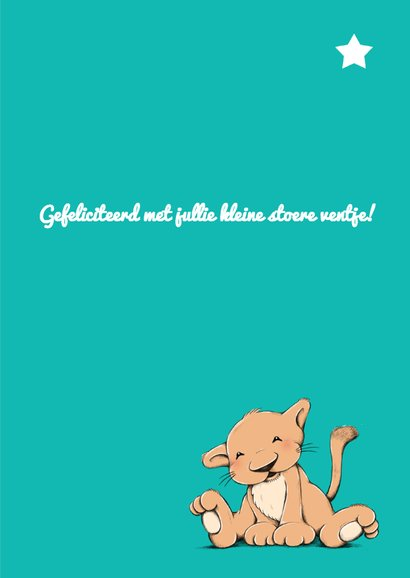 Felicitatie baby leeuw ster IH 3