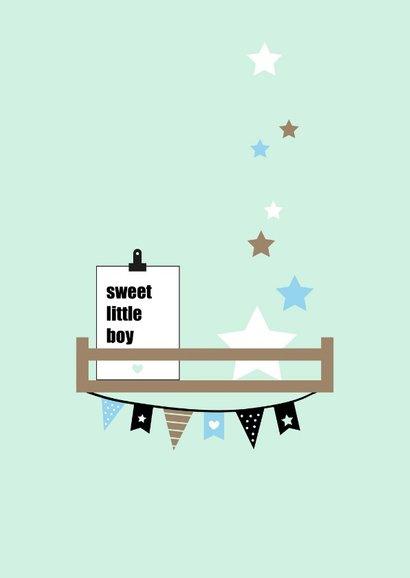 Felicitatie - Babykamer plankjes mint 2