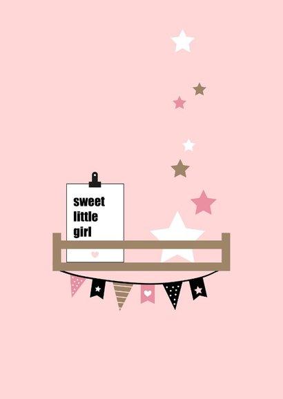 Felicitatie - Babykamer plankjes roze 2