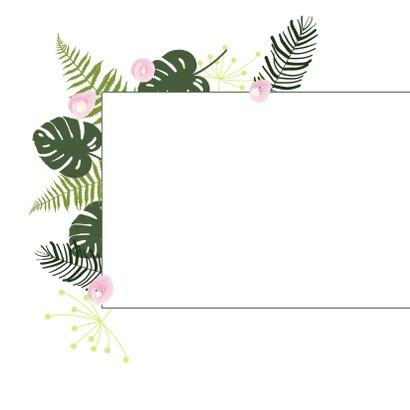 Felicitatie - Botanisch bladeren meisje 2