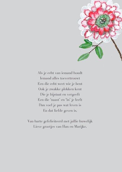 Felicitatie botanisch bloemen voor het aanstaande paar 3