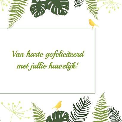 Felicitatie - Botanisch huwelijk goud 3