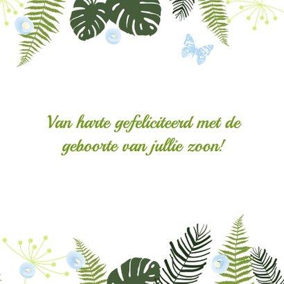 Felicitatie - Botanisch jongen 3