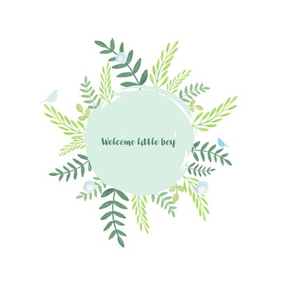 Felicitatie - Botanisch met cirkel 2