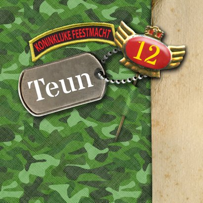 felicitatie camouflage leger groen 2