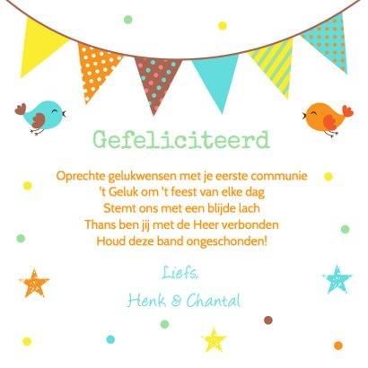 Felicitatie communie confetti vlag 3