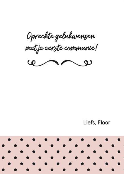 Felicitatie - communie meisje stippen 3