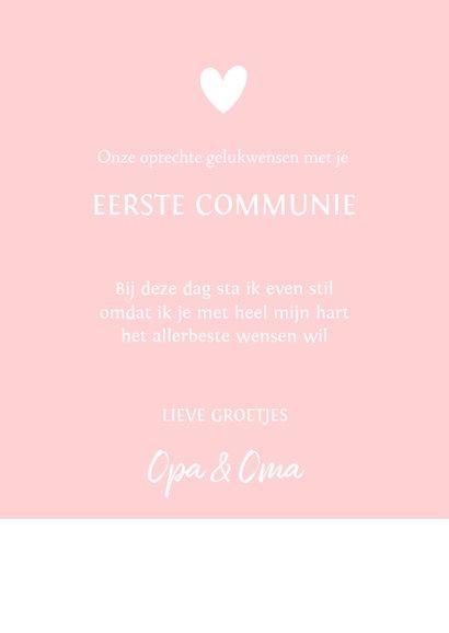 Felicitatie communie silhouet meisje met vllinders 3