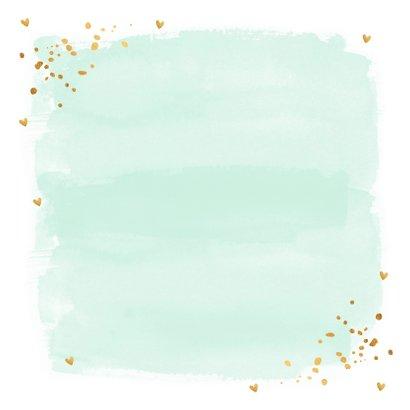 Felicitatie communie waterverf mintgroen goud 2