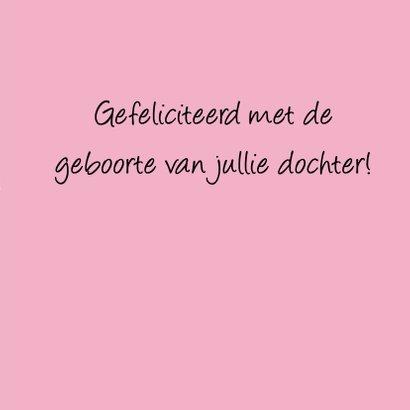 Felicitatie Confetti roze grijs 3