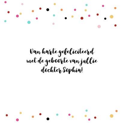 Felicitatie - Confetti, vlaggetjes, meisje 3