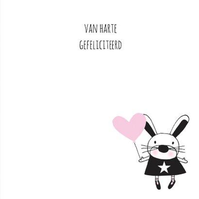 Felicitatie dochter silhouet konijn Kraft - MW 3