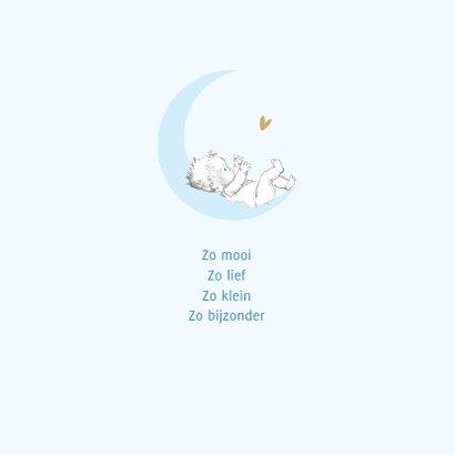 Felicitatie geboorte baby op maan met sterren 2