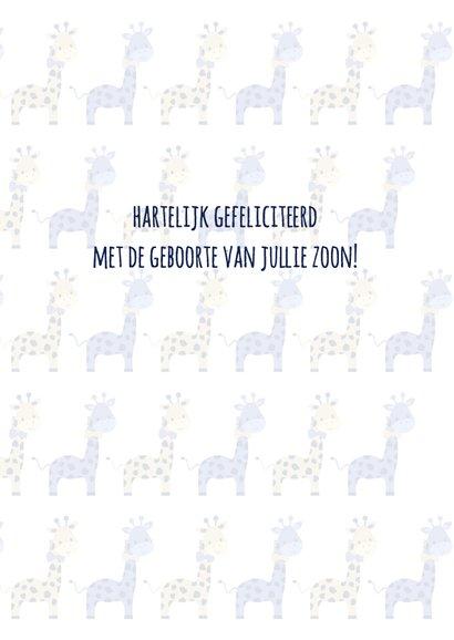 Felicitatie geboorte giraf 3
