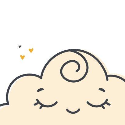 Felicitatie geboorte het regent hartjes uit een lieve wolk 2