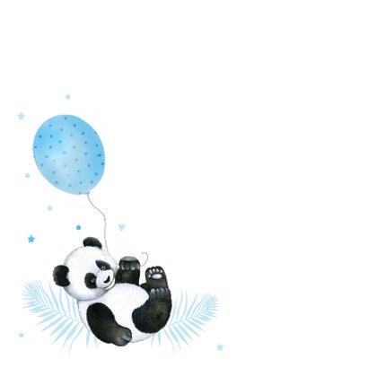 Felicitatie geboorte jongen pandabeertje ballon 2