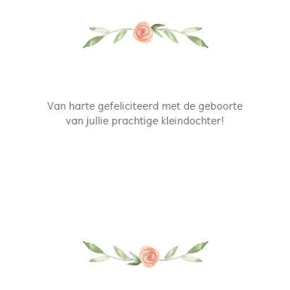 Felicitatie geboorte kleindochter bloemenkrans 3