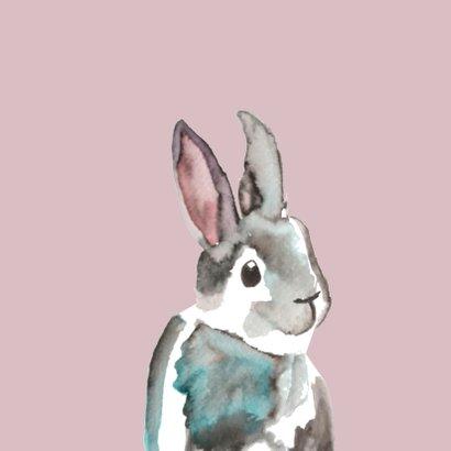 Felicitatie geboorte meisje met konijntje  2
