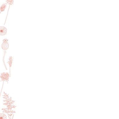 Felicitatie geboorte meisje roze bloemen 2