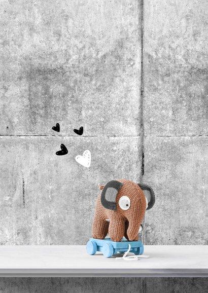 Felicitatie geboorte olifant en poster 2