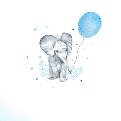 Felicitatie geboorte olifantje ballon 2