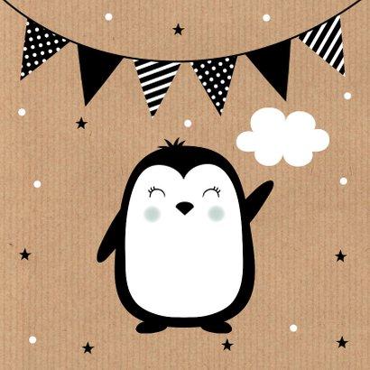 Felicitatie geboorte pinguïn kraft  2