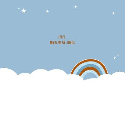Felicitatie geboorte regenboog jongen 3