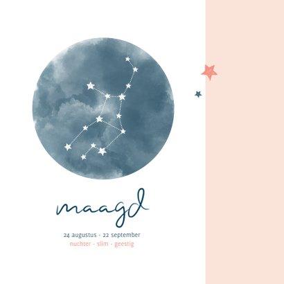Felicitatie geboorte sterrenbeeld Maagd 2