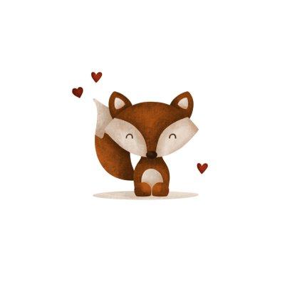 Felicitatie geboorte vos met hartjes lief 2