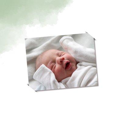 Felicitatie geboorte zoon met mint-groene achtergrond 2