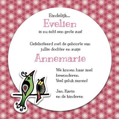 Felicitatie geboorte zusje - EM 3