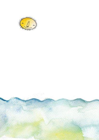 Felicitatie geboortekaartje jongen bootje op zee 2
