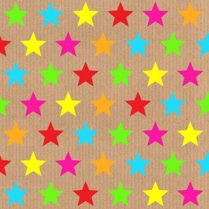 Felicitatie geslaagd label krijtbord kraft sterren 2