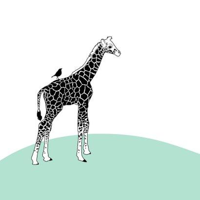 Felicitatie - Giraf met vlinder en vogeltje 2